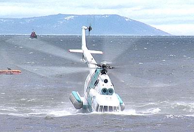 Катастрофа вертолета в Анивском заливе глазами очевидца